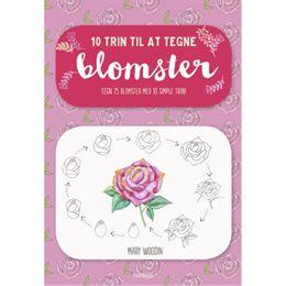 Image of 10 trin til at tegne blomster - Hæftet