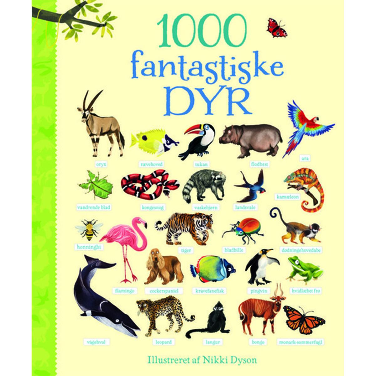 Image of   1000 fantastiske dyr - Papbog