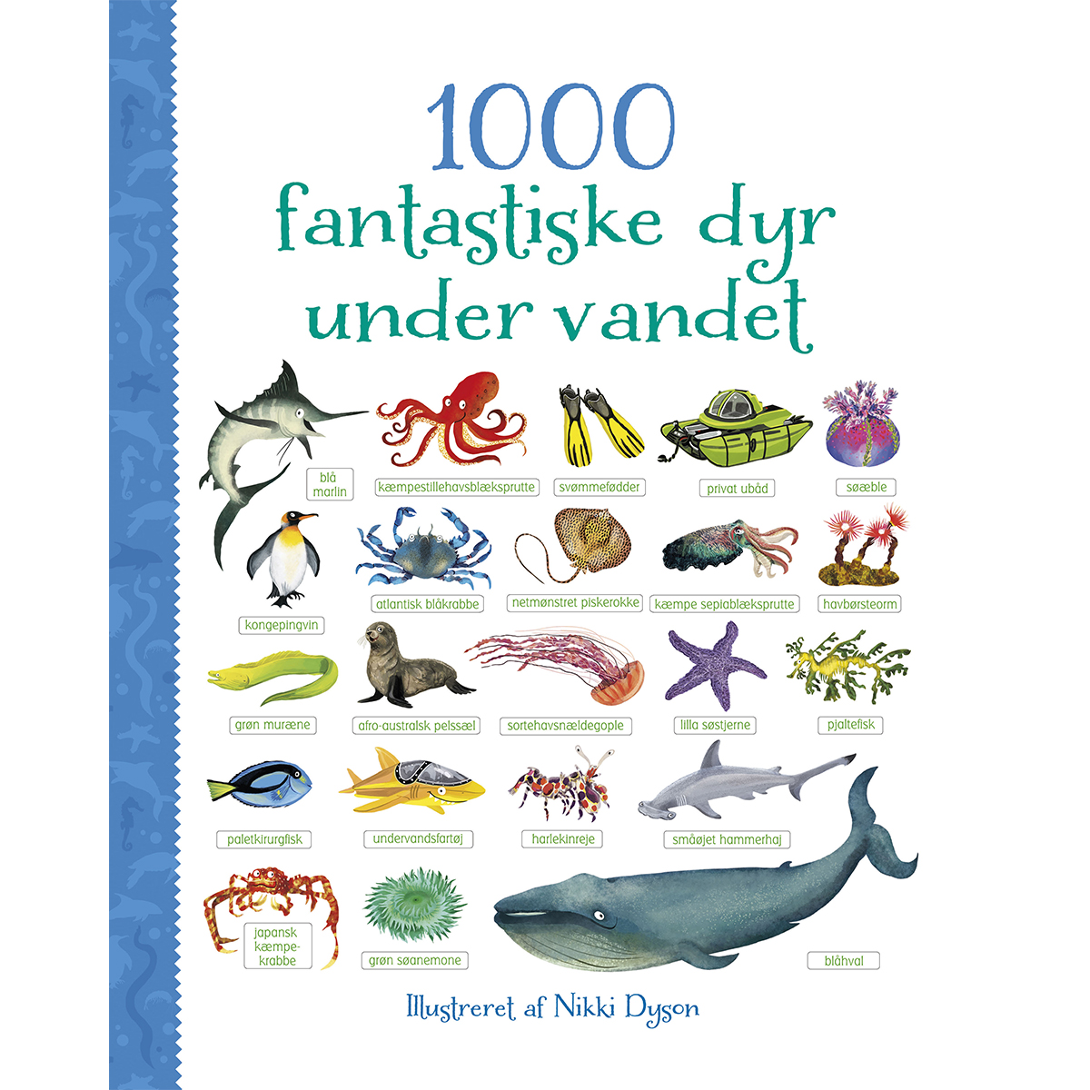 Image of   1000 fantastiske dyr under havet - Papbog