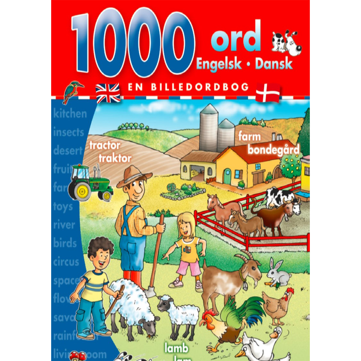 Image of   1000 ord: engelsk-dansk - Indbundet