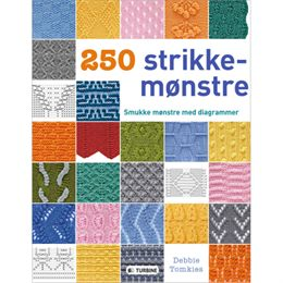 Image of 250 strikkemønstre - Smukke mønstre med diagrammer - Indbundet