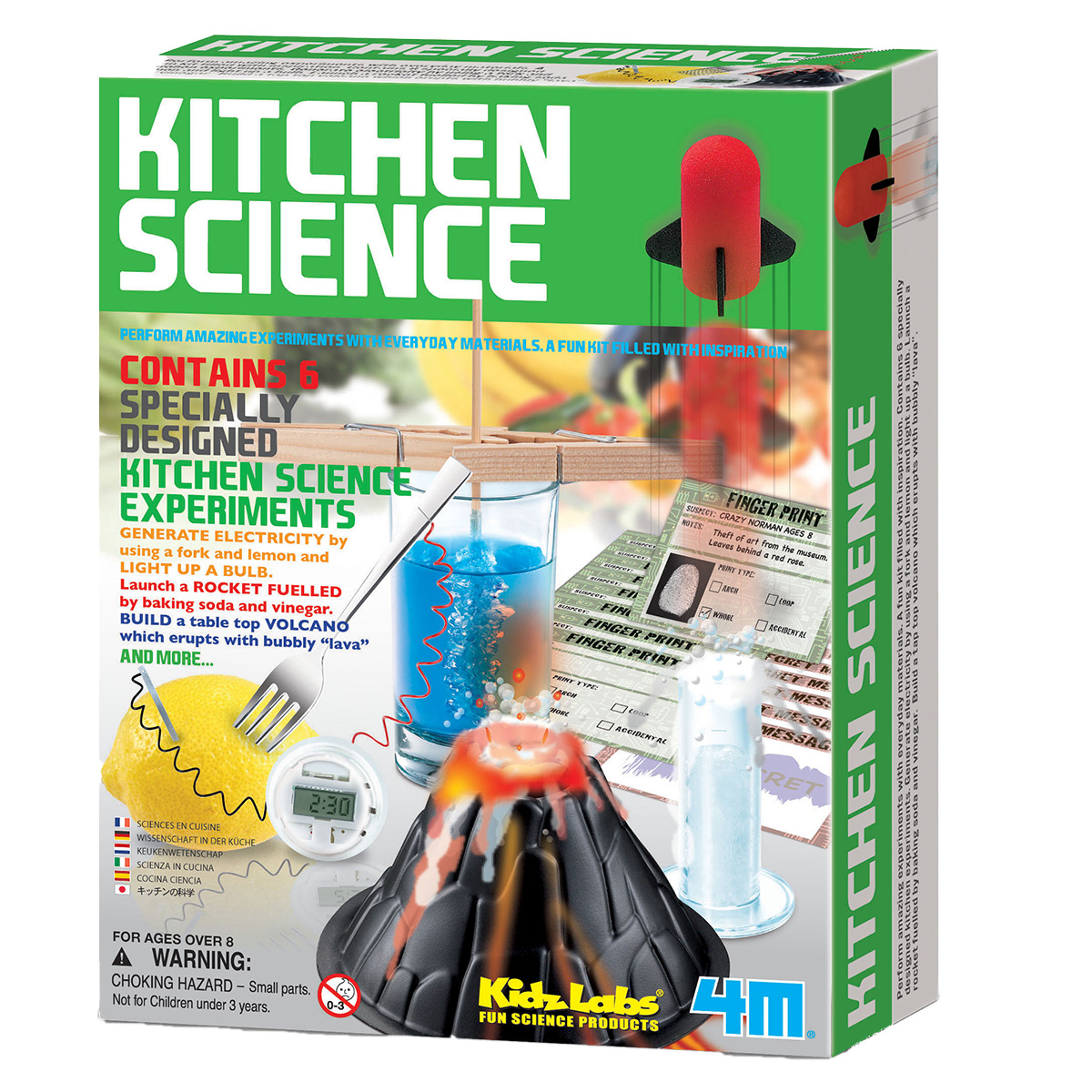 Image of   4M køkkeneksperimenter med hverdagsting - Kitchen Science