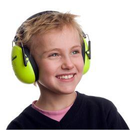 A-Safety høreværn til børn - Neongrøn