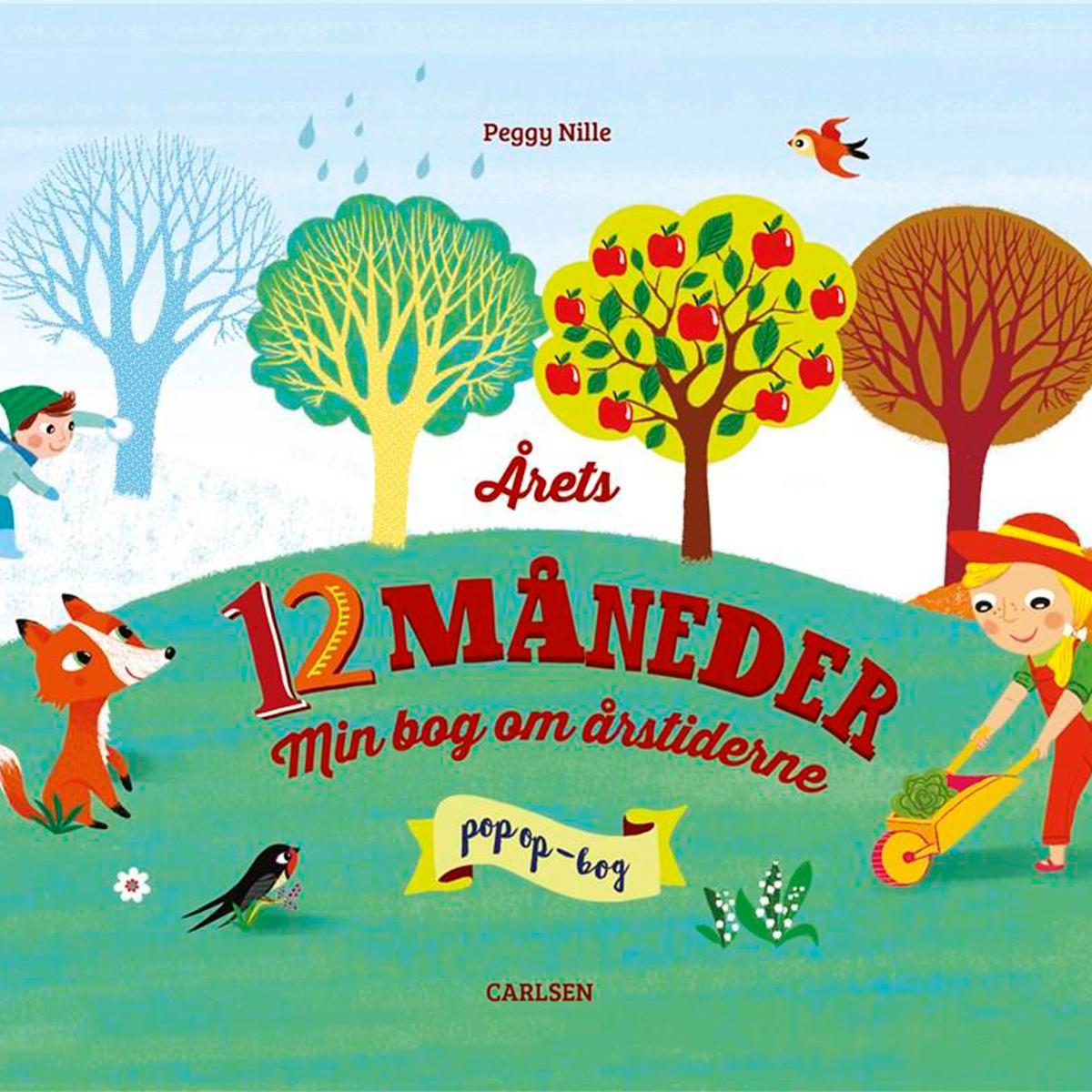 Image of   Årets 12 måneder - Min bog om årstiderne - Papbog
