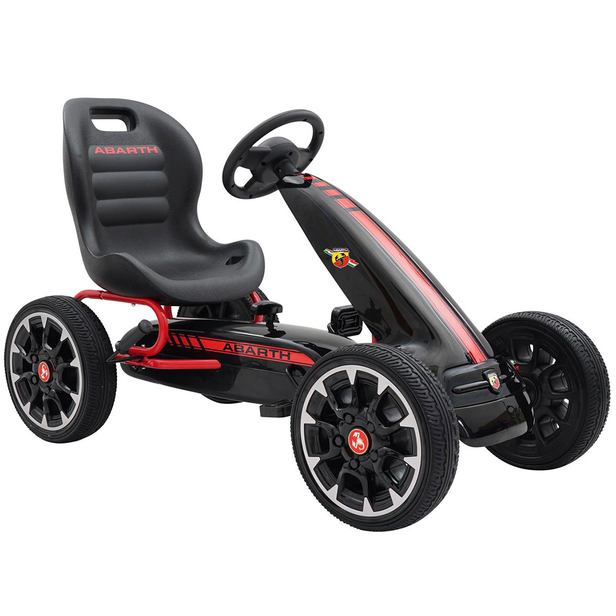 Image of   Abarth gokart med pedaler - Sort