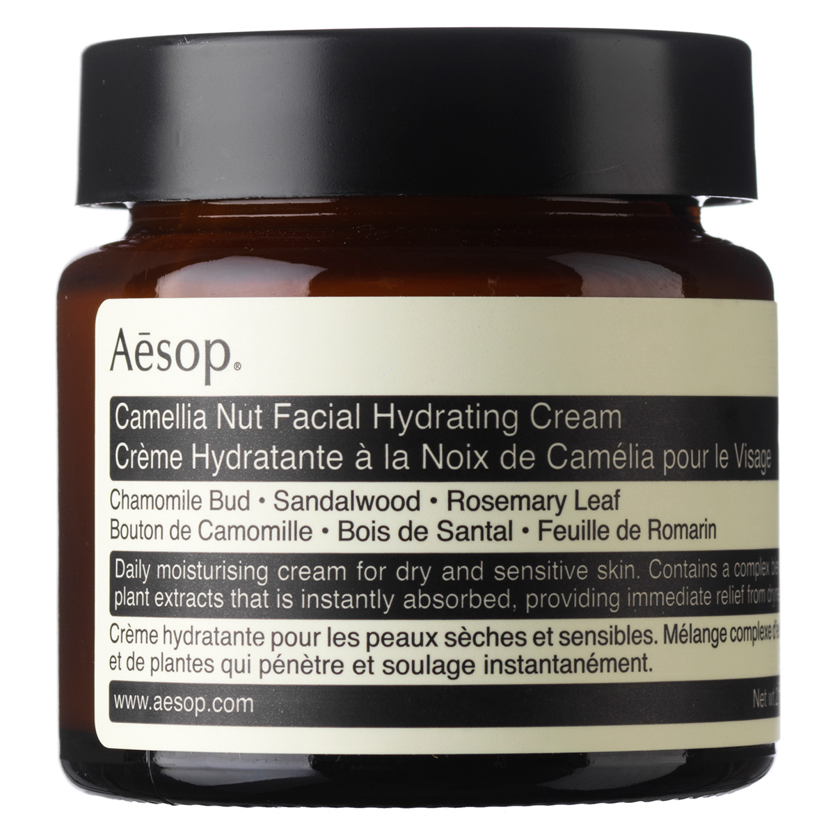 Image of   Aesop Camellia Nut Facial Hydrating Cream - 60 ml
