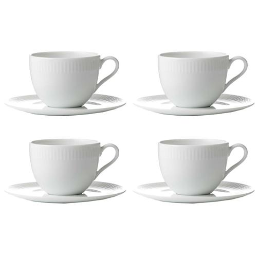 Image of   aida Hvid Relief kaffekopper
