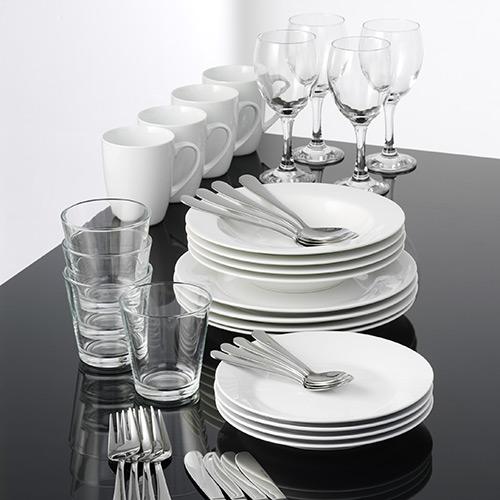 Image of   aida stel inkl. glas og bestik - Cafe