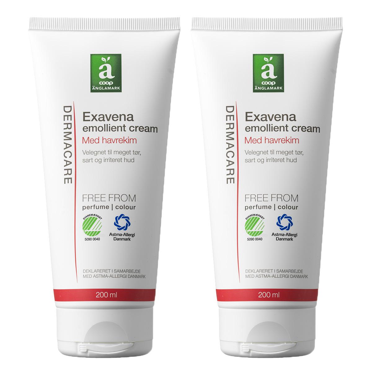 Image of   Änglamark Dermacare Exavena emollient cream - 2 x 200 ml