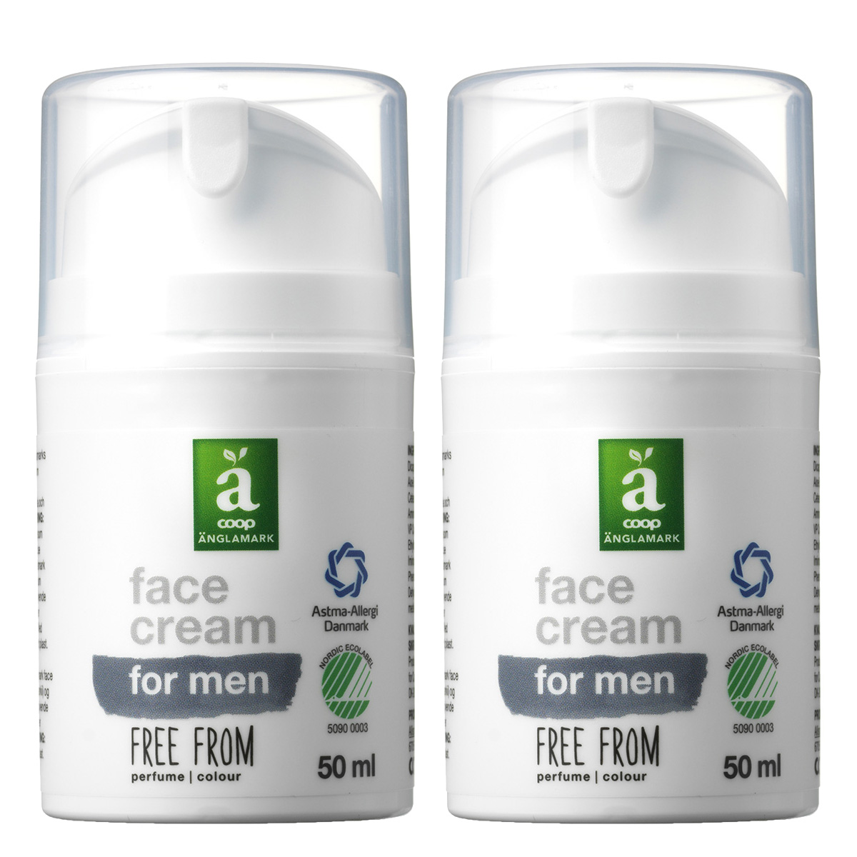 Image of   Änglamark Face cream for men - 2 x 50 ml