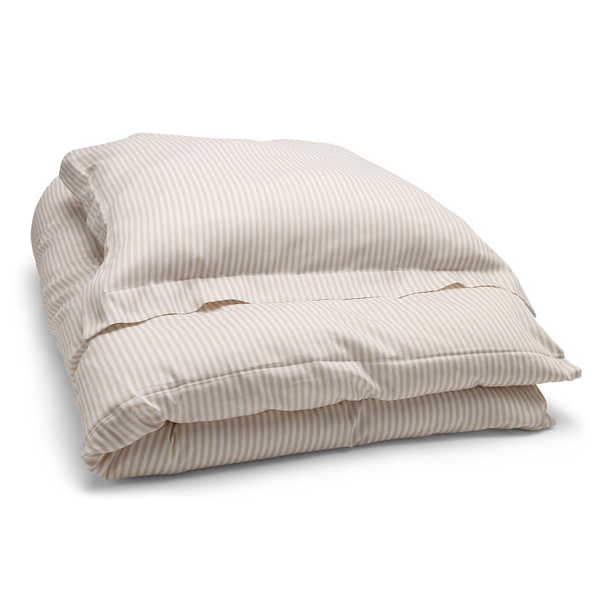 Image of   Änglamark sengetøj - Beige og hvide striber