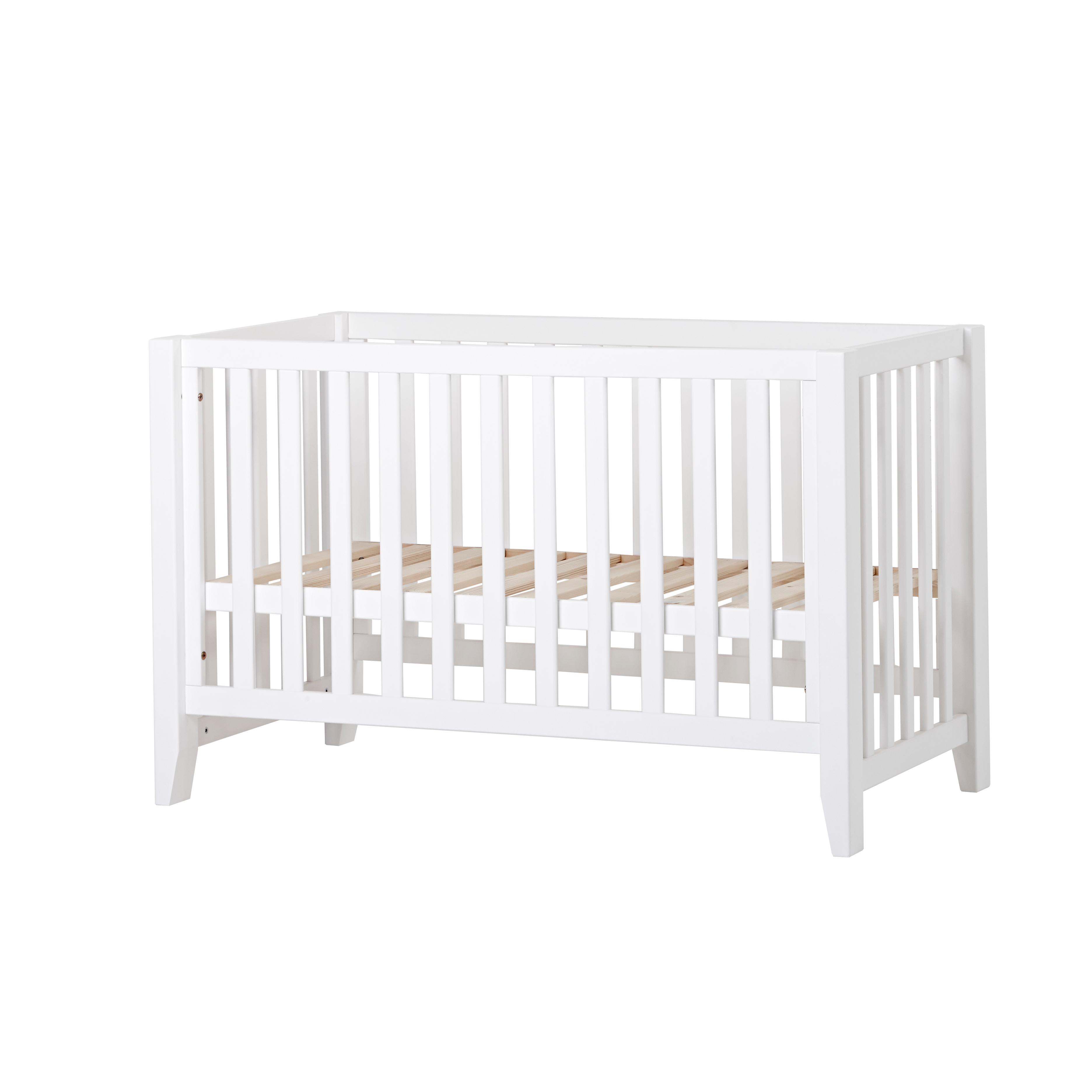 babyseng Änglamark tremmeseng   Hvid 60 x 120 cm   Svanemærket babyseng  babyseng