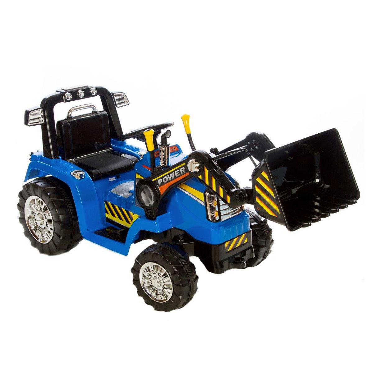 Image of   Azeno elbil - Traktor med skovl - Blå