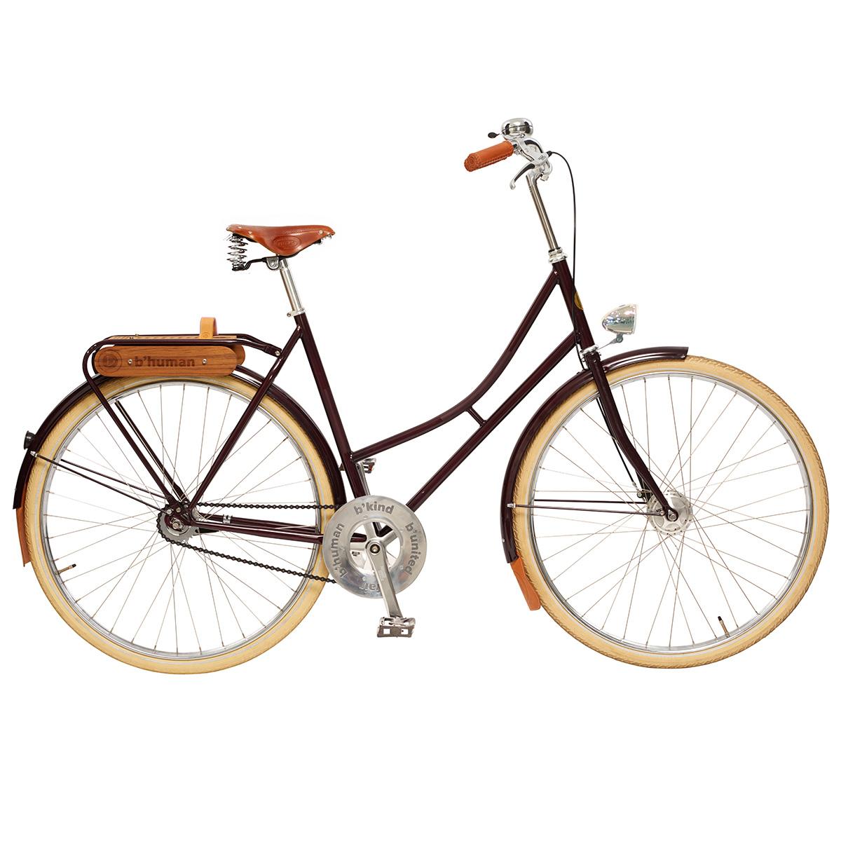Bfair damecykel med 2 gear - Bordeaux