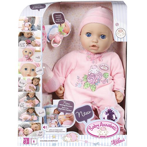 e58a69363a7 Baby Annabell interaktiv dukke H 42 cm - Babydukke med sut, sutteflaske og  dukketøj - Coop.dk