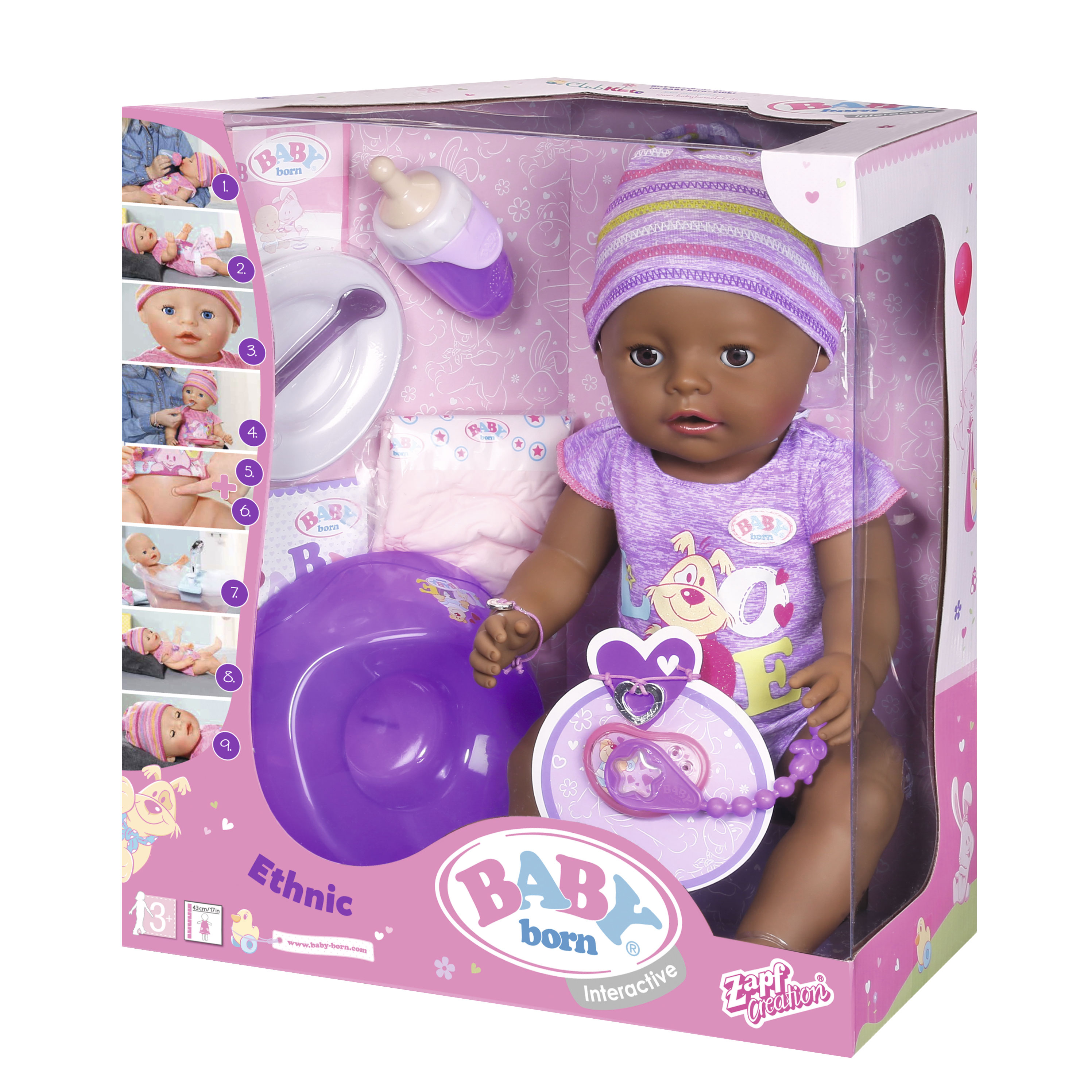 Image of   Baby Born interaktiv dukke - Pige