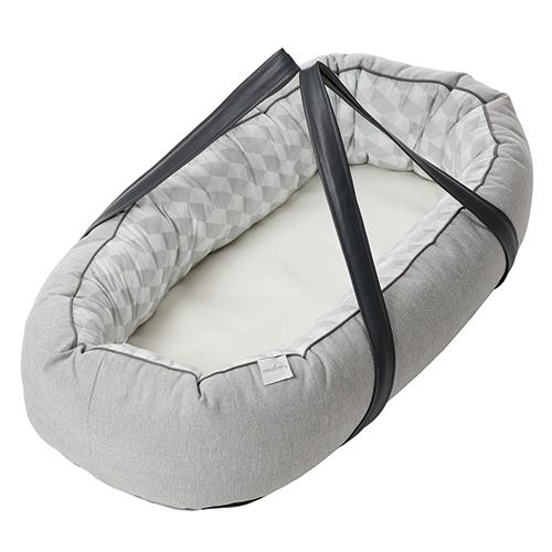 Billede af Baby Dan babynest med bæreplade - Cuddle Nest Ergo - Grå