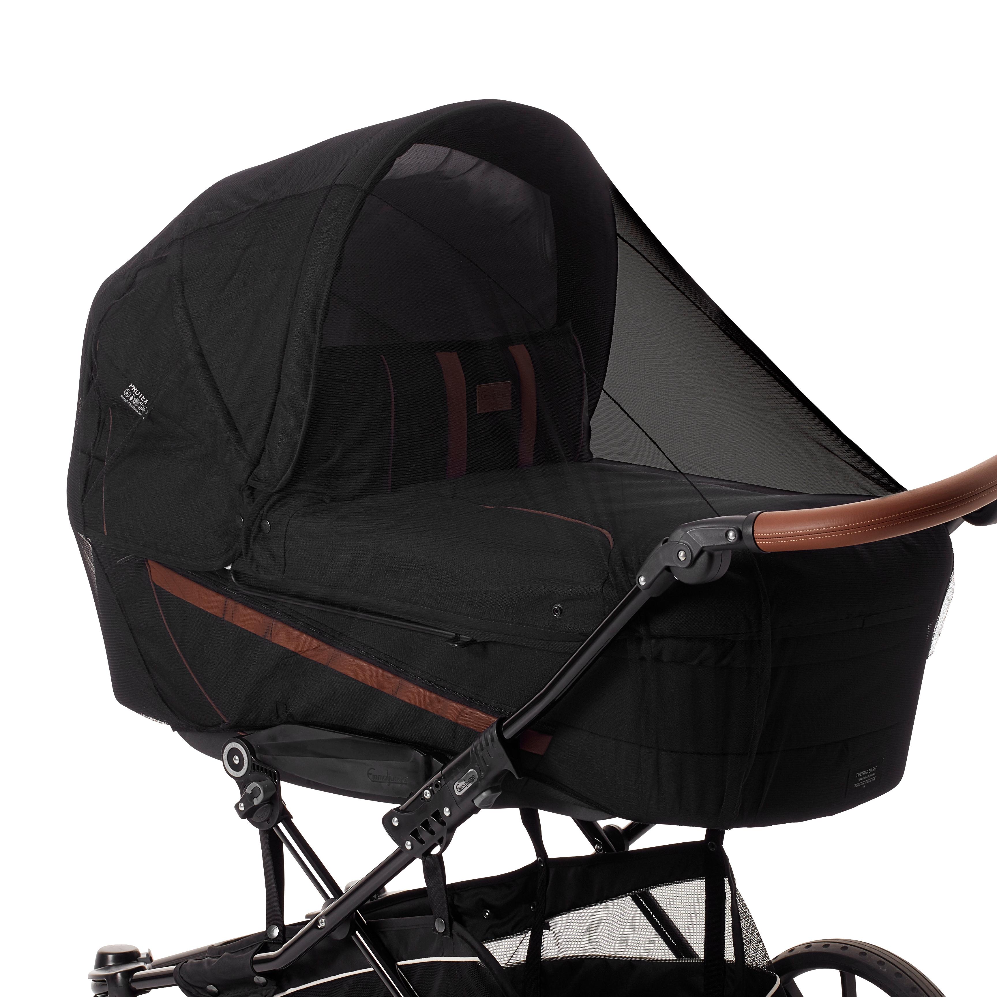 Baby Dan insektnet til barnevogn - Deluxe - Sort
