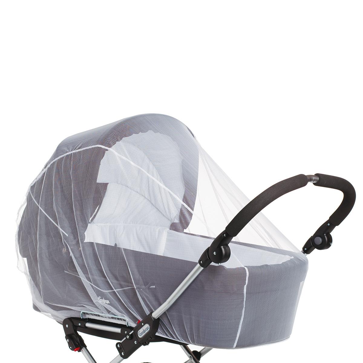 Baby Dan insektnet til barnevogn - Hvid
