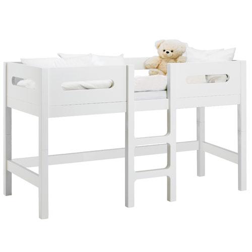 babydan seng Baby Dan Manhattan halvhøj seng   Hvid 70 x 160 cm   Med gulvplads  babydan seng