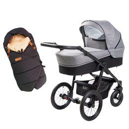 Babynor barnevogn Ydun & kørepose Frida - Steel
