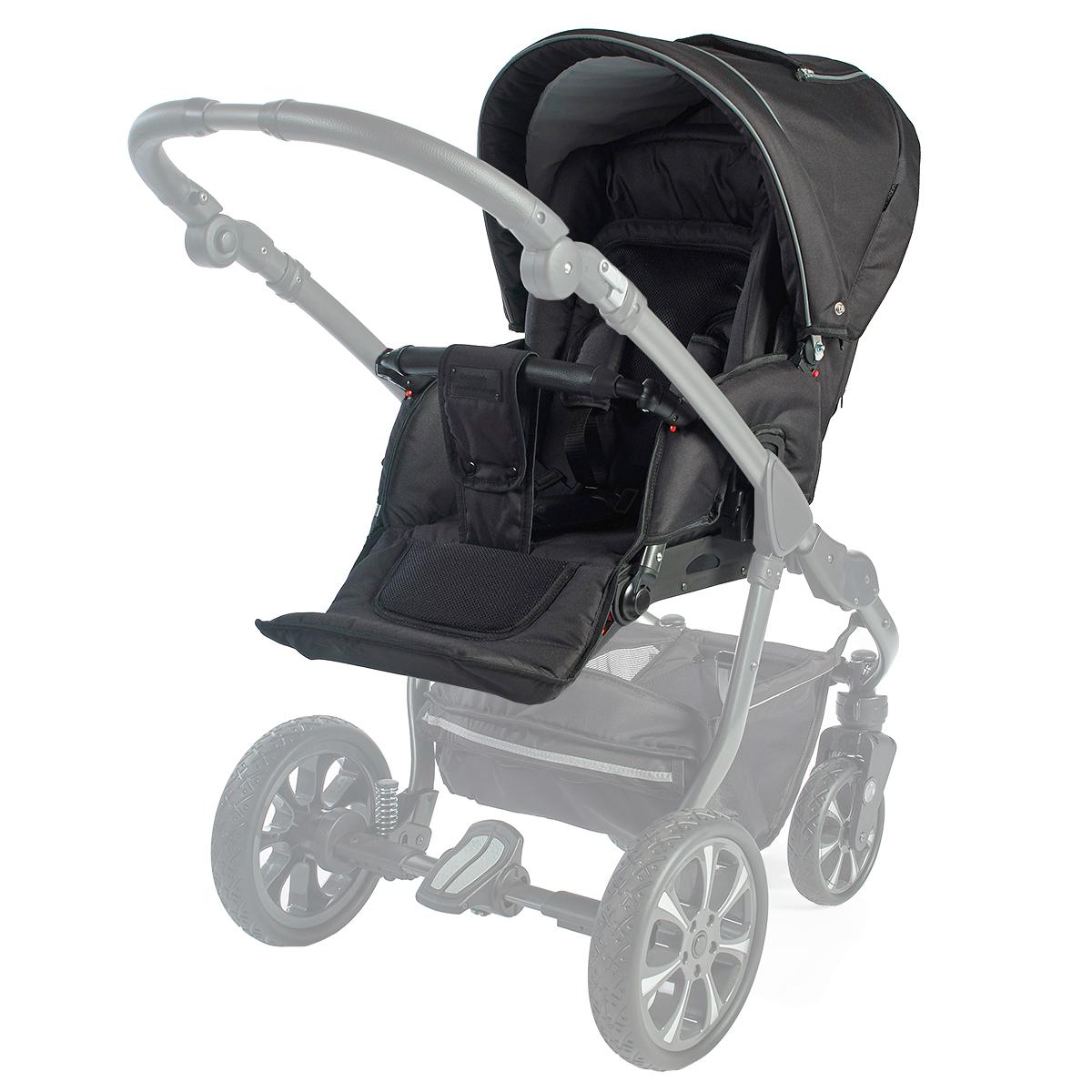 Babynor klapvognssæde - Svala - Sort