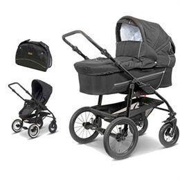 BabyTrold barnevogn og klapvogn - Star - Sort