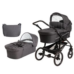 BabyTrold barnevogn - Star - New Ebony