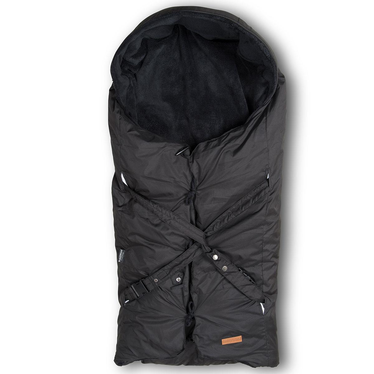 Image of   BabyTrold kørepose - Lux med dundyne - Sort
