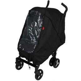 BabyTrold regnslag til jogger/klapvogn - Sort