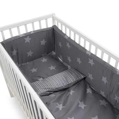BabyTrold sengerand - Lux Star - Grå