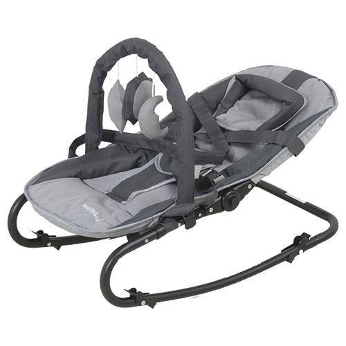 Image of   BabyTrold skråstol med legetøj - Grå