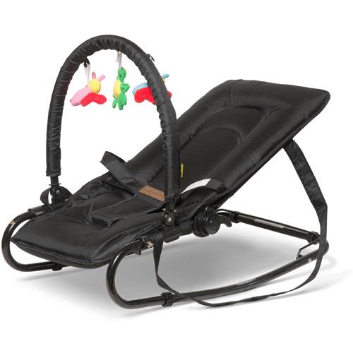 Image of   BabyTrold skråstol med legetøj - Sort