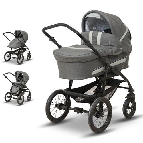 BabyTrold Star barnevogn og klapvogn - Denimgrå Inkl. lift, klapvognssæde og pusletaske - Coop.dk