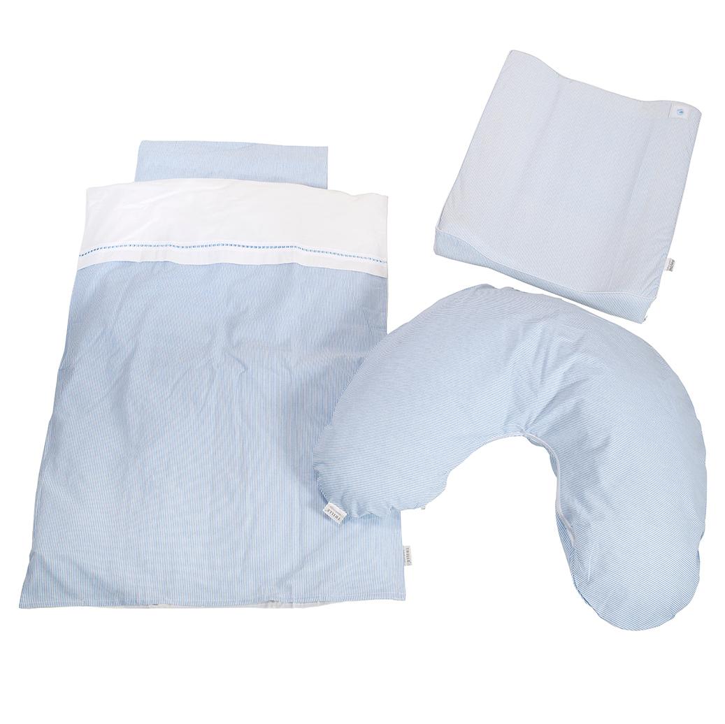 Image of   BabyTrold tekstilpakke - Strib - Lyseblå