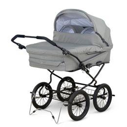 Image of   Babytrold tvillingebarnevogn - Trille Twin - Grå melange
