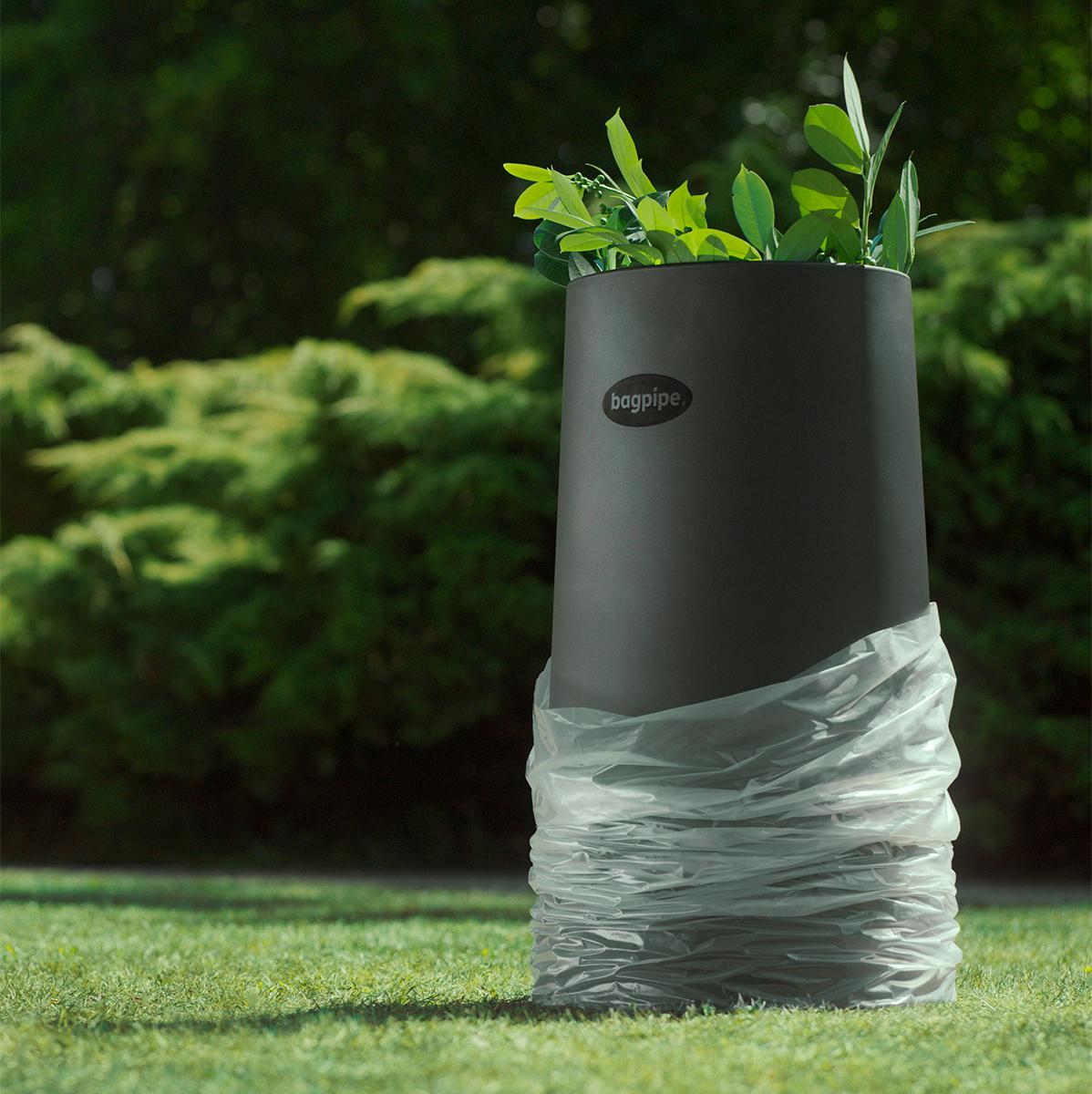 Bagpipe affaldsstander