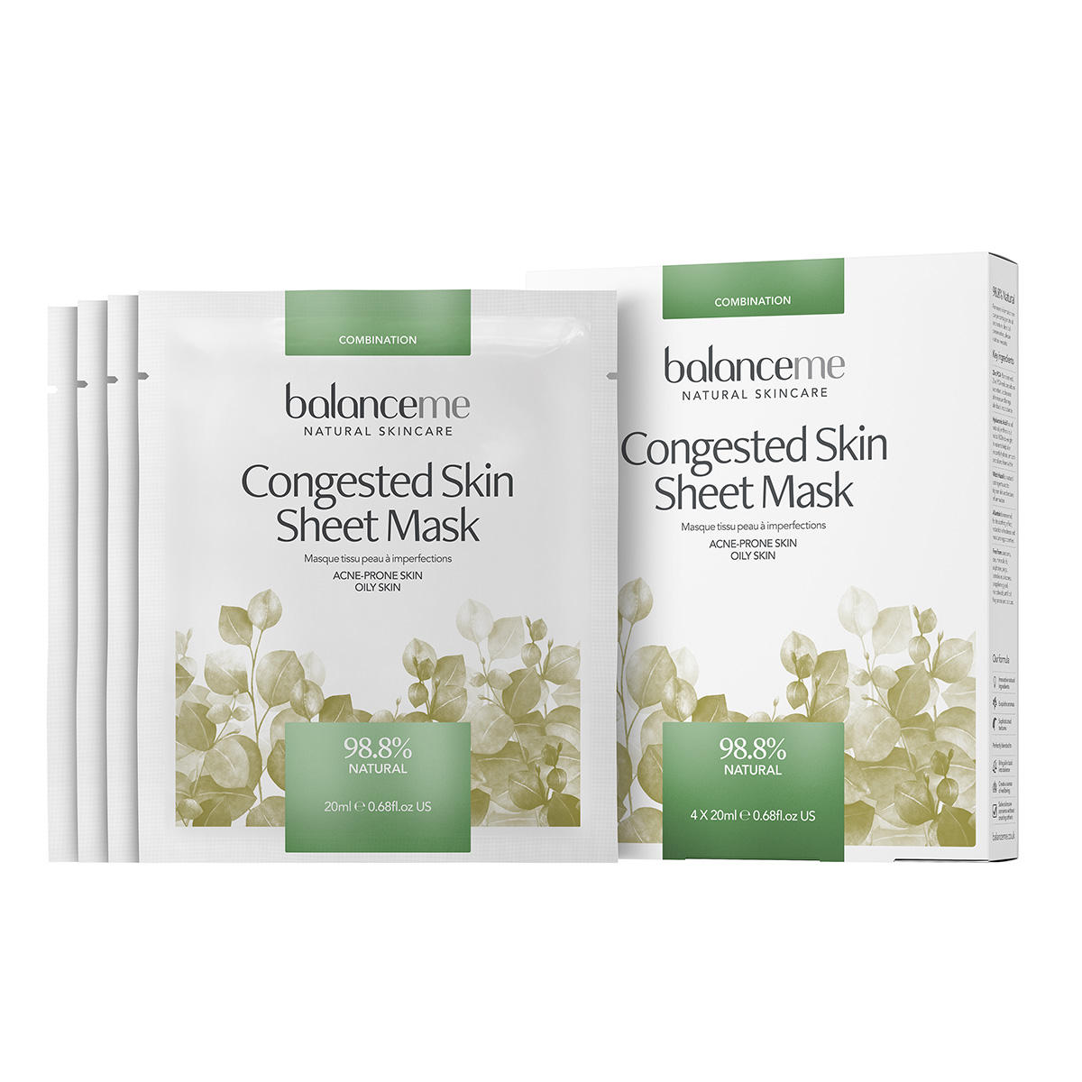 Image of   Balance Me Congested Skin Sheet mask - 4 stk.