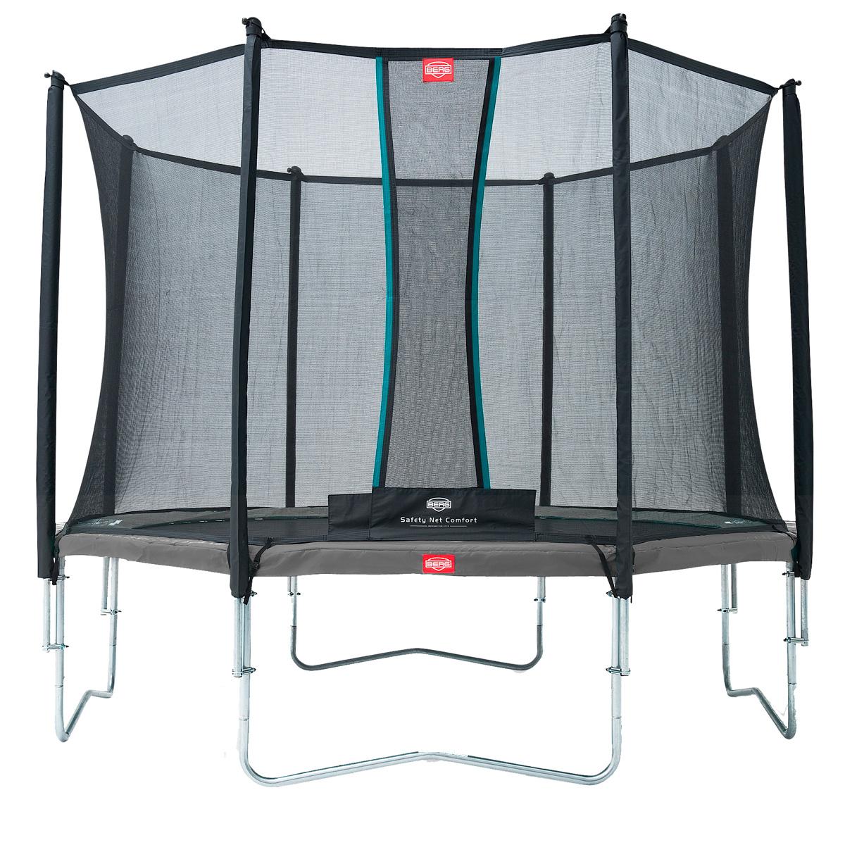Image of   Berg trampolin med net - Favorit - Ø 380 cm - Grå