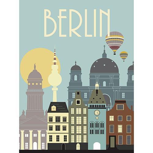 Image of   Berlin plakat - af Rikke Axelsen