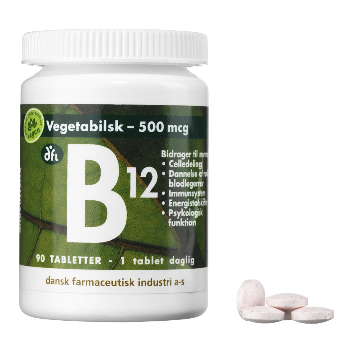 Billede af Berthelsen B12-Vitamin - 500 mcg - 90 stk.