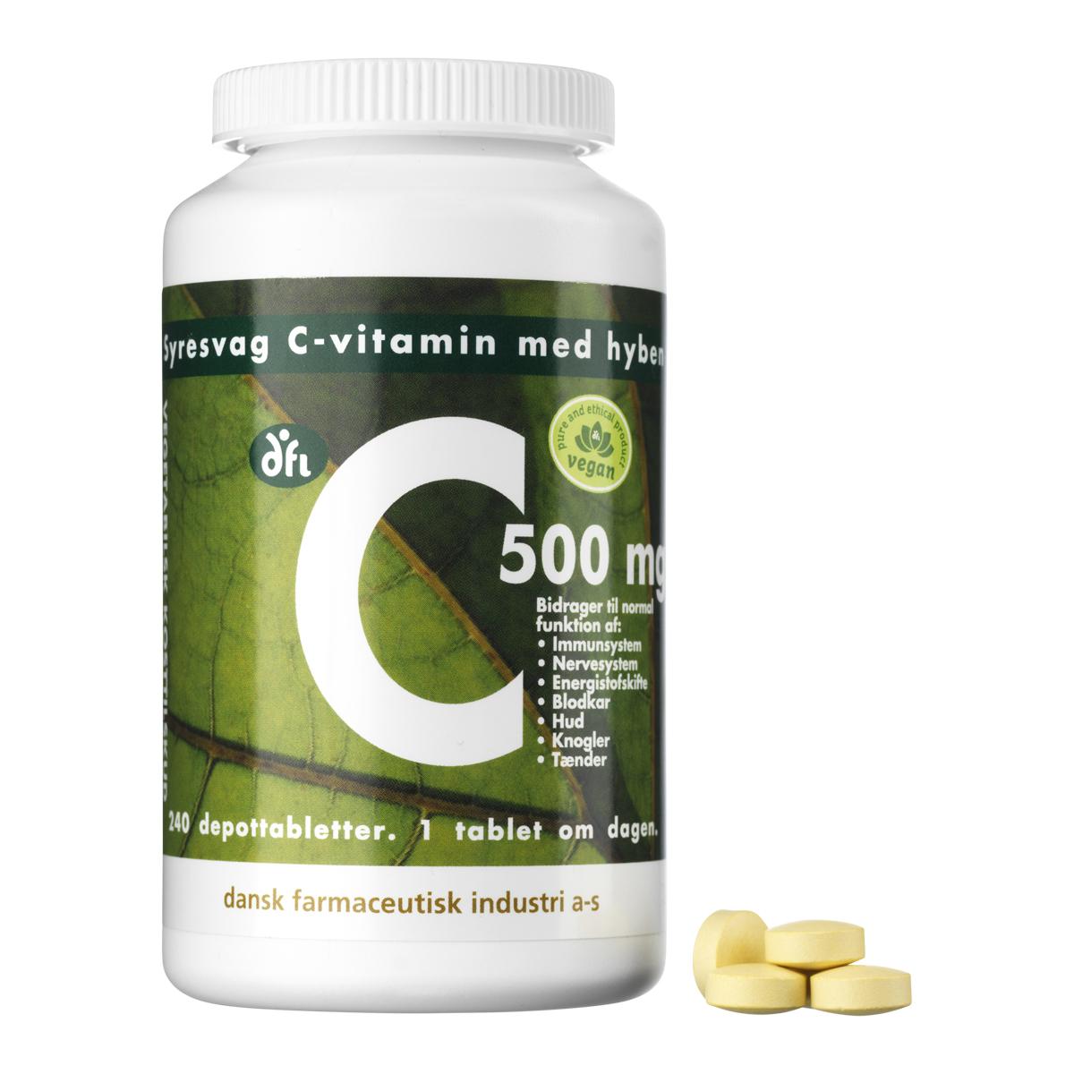 Billede af Berthelsen C-Vitamin C500 - 500 mg - 240 stk.