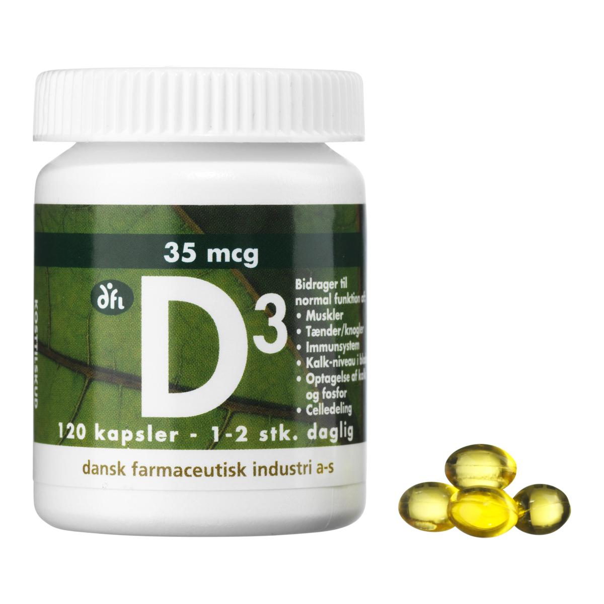 Billede af Berthelsen D3-Vitamin - 35 mcg - 120 stk.
