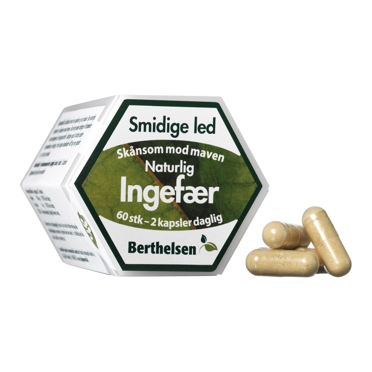 Image of   Berthelsen Ingefær - 60 stk.