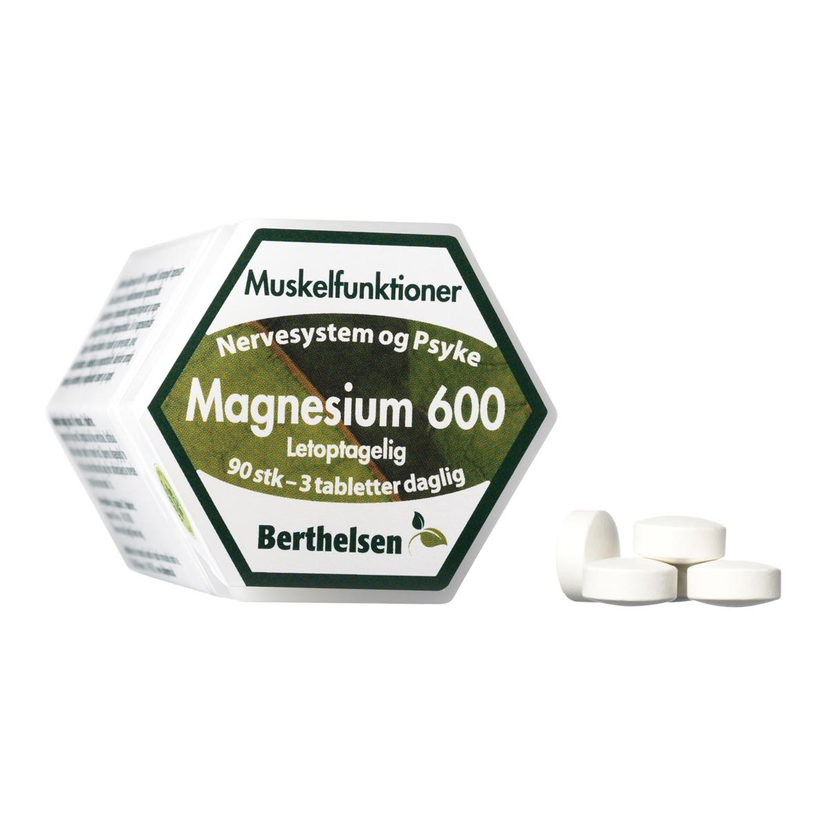 Billede af Berthelsen Magnesium 600 - 90 stk.