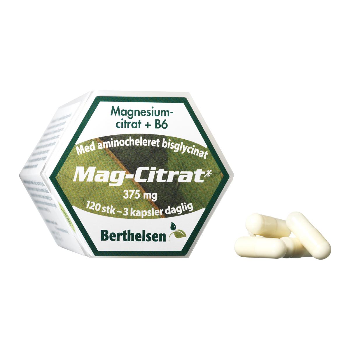 Billede af Berthelsen Magnesium-Citrat - 120 stk.