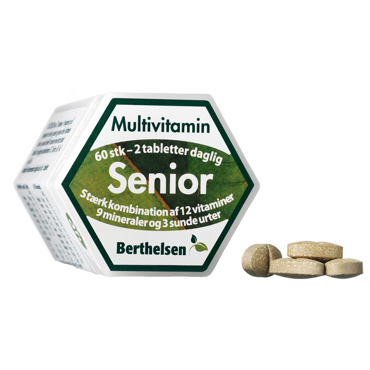 Image of   Berthelsen Senior Multivitamin - 60 stk.