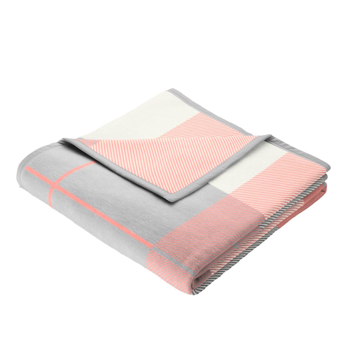 Billede af Biederlack plaid - Colour Cotton - Karo Korallrosa