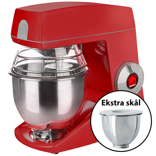 Image of   Bjørn Teddy Varimixer køkkenmaskine med ekstra skål - Rød