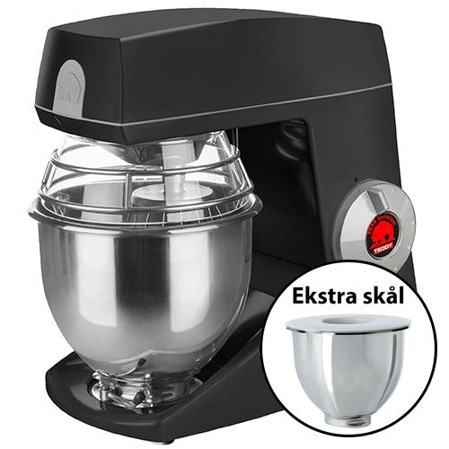 Image of   Bjørn Teddy Varimixer køkkenmaskine med ekstra skål - Sort